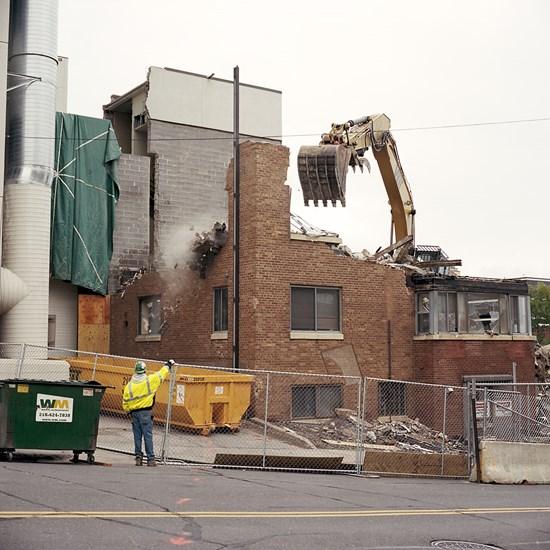 Shoreview Building Demolition, Duluth, Minnesota, September 2013