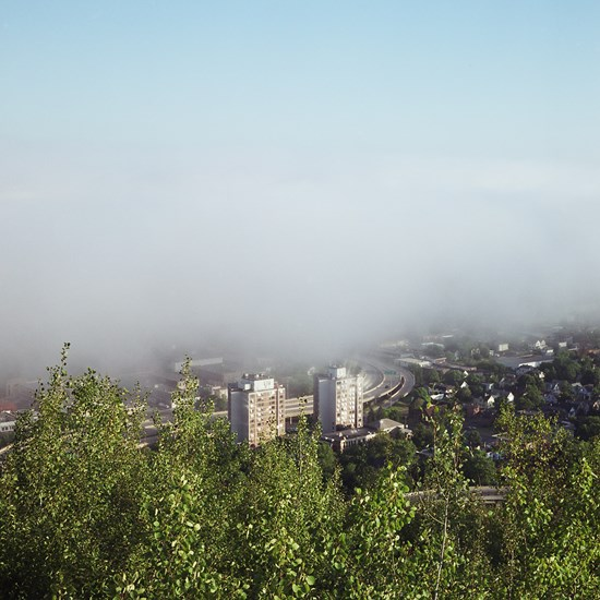 Fog Rolling in Through Lincoln Park, Duluth, Minnesota, August, 2013