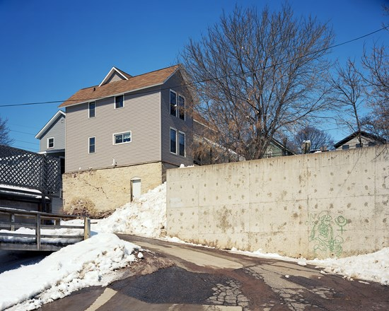Wall With Graffiti, Marquette, Michigan, March, 2014