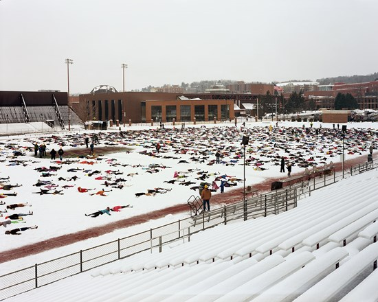 World Record Attempt At Snow Angels. 7086 People Short, Duluth, Minnesota, February, 2013