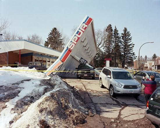 Gas Station Collapse, Duluth, Minnesota, April, 2014