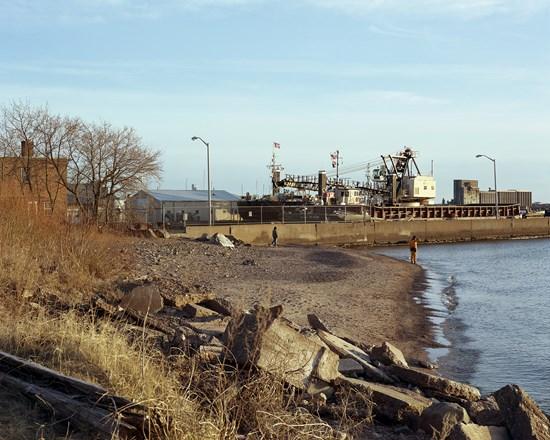 Beach, Park Point, Duluth, Minnesota, April, 2012