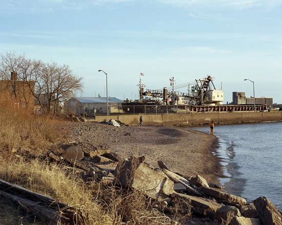 Beach, Park Point, Duluth, Minnesota, April 2012