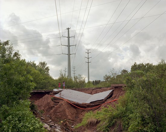 Westgate Blvd Collapse, Duluth, Minnesota, June 2012