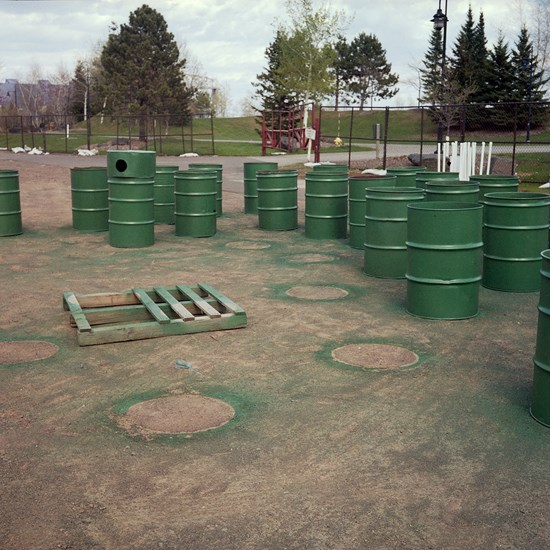 Where The Garbage Barrels Get Painted, Duluth, Minnesota, January 2017