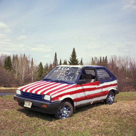 American Flag Car, Duluth, Minnesota, May 2014