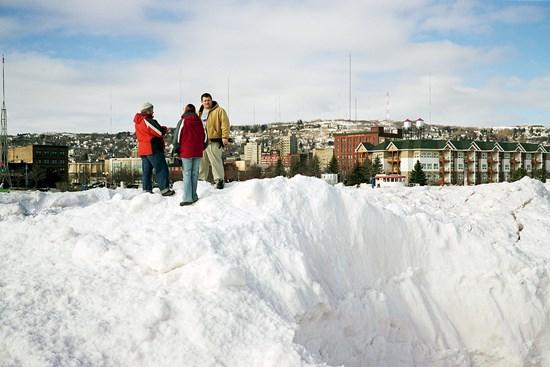 Canal Park Ice Barrier, Duluth, Minnesota, February 2011