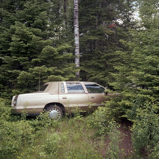 Cadillac In The Woods, Duluth, Minnesota, June 2017