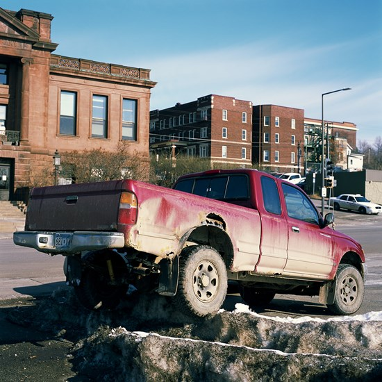 Dirty Truck Parked on Dirty Snow, Duluth, Minnesota, April 2018