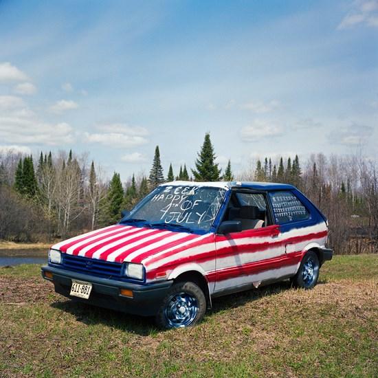 American Flag Car, Duluth, Minnesota, May 2014