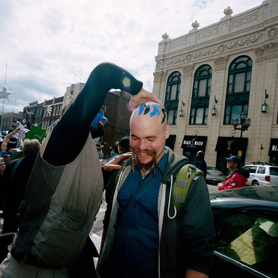 Smelt Parade Head Painting, Duluth, Minnesota, May 2016