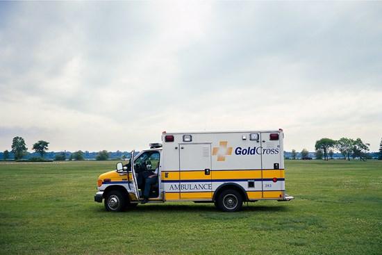 Waiting Ambulance, Duluth, Minnesota, July 2011