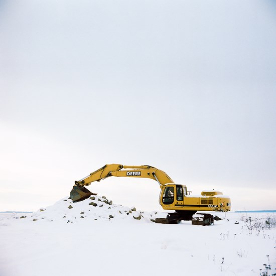 Resting Excavator, Bayfield, Wisconsin, January 2016