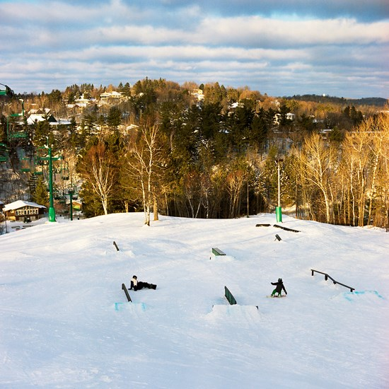 Chester Park Snowboarding, Duluth, Minnesota, January 2016