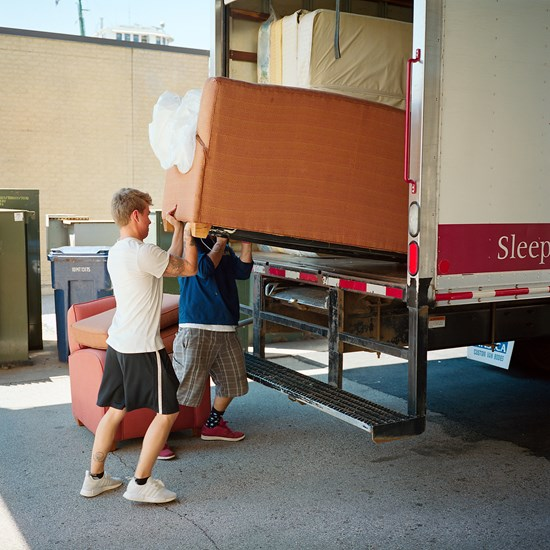 Moving A Couch, Duluth, Minnesota, July 2017