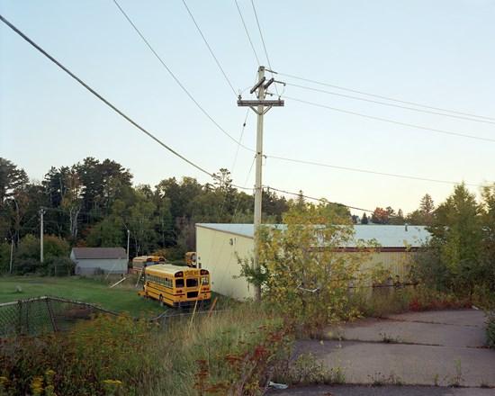 Parked Buses, Two Harbors, Minnesota, September 2014