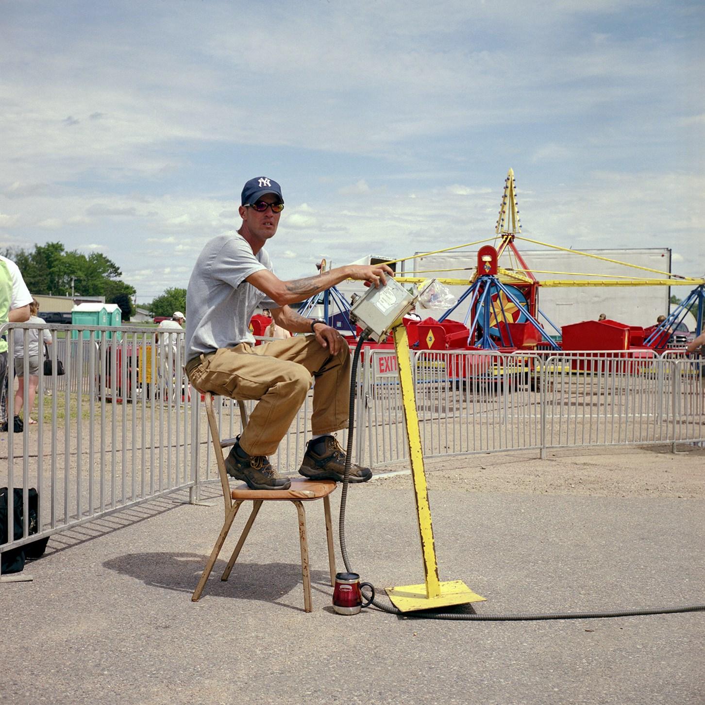 Carnival Ride Operator, Birnamwood, Wisconsin, June 2010