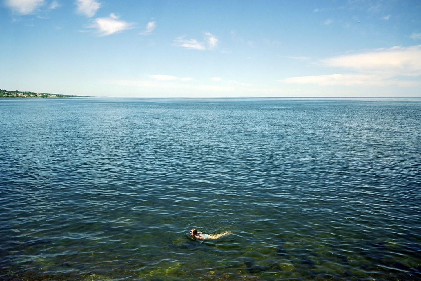 A Swimmer Swims, Duluth, Minnesota, July 2011