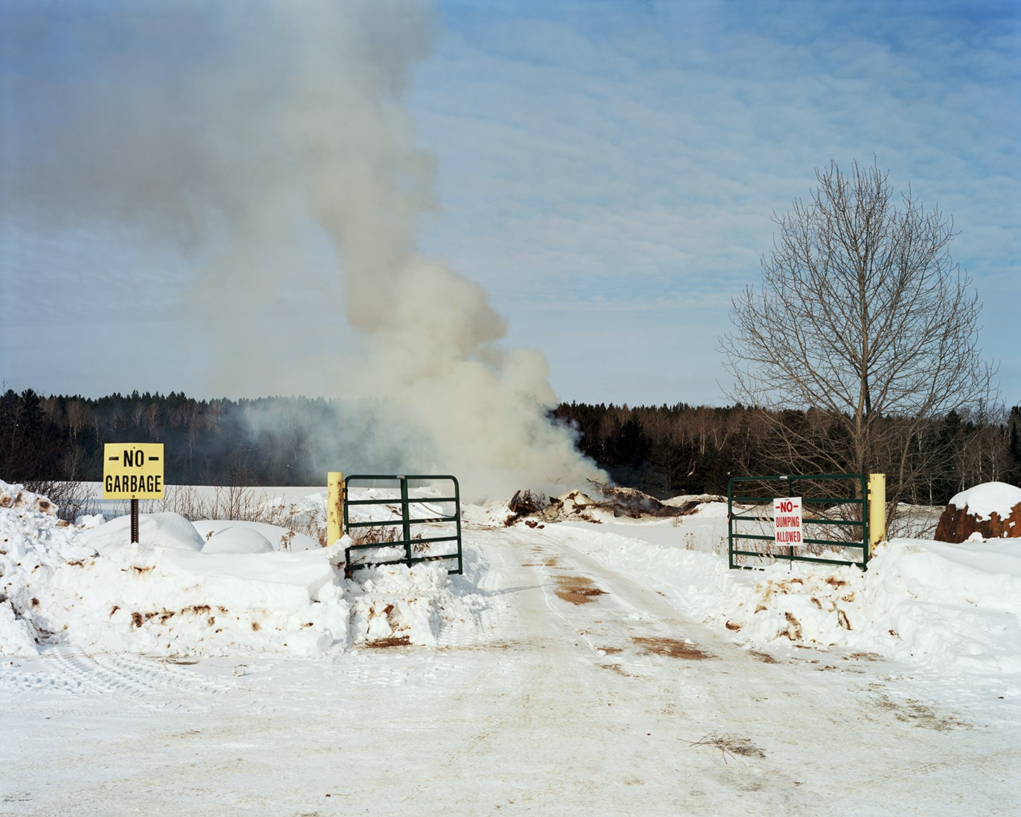 Burn Pile, Aurora, Minnesota, February 2014