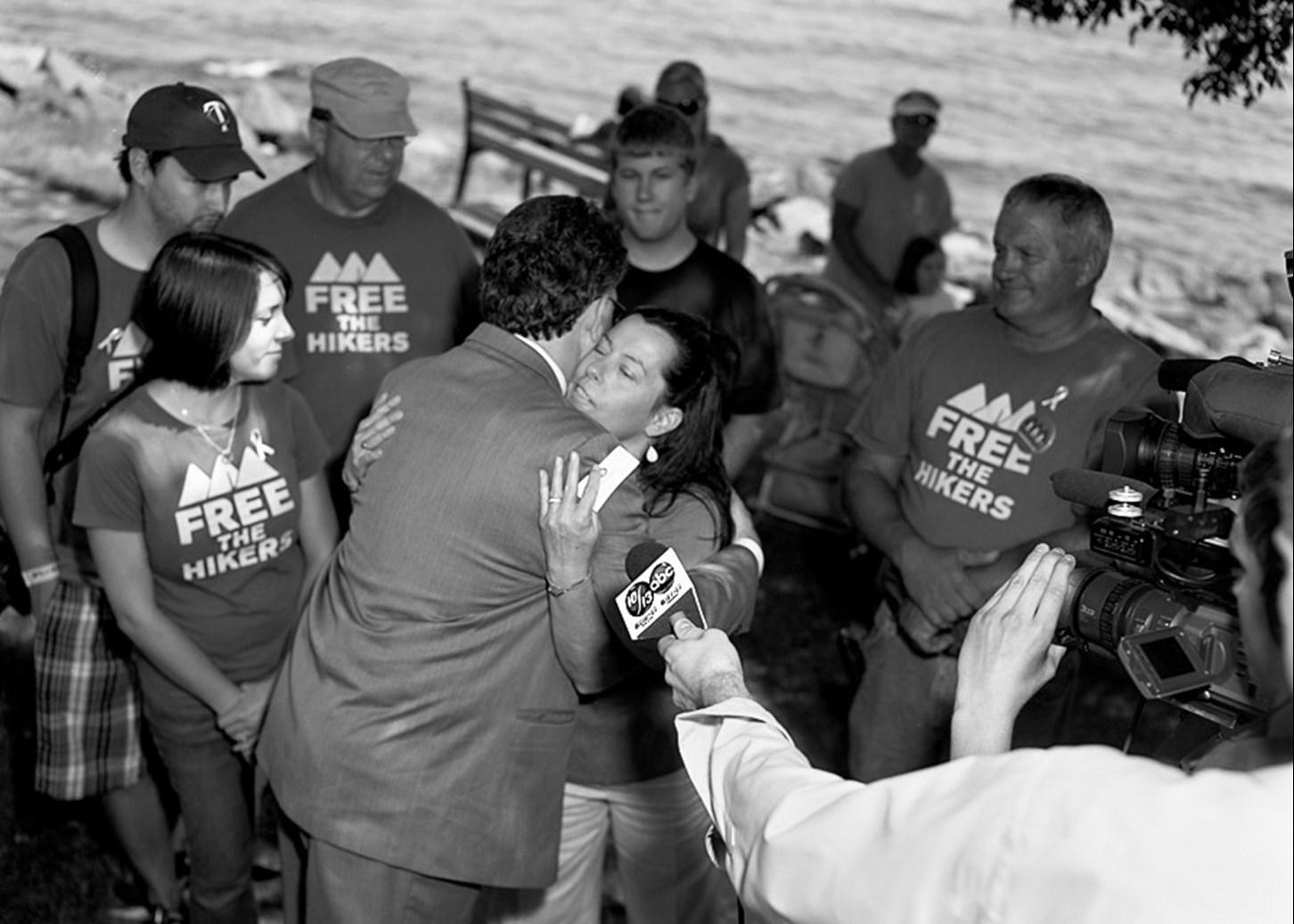Al Franken Hugs Cindy Hickey