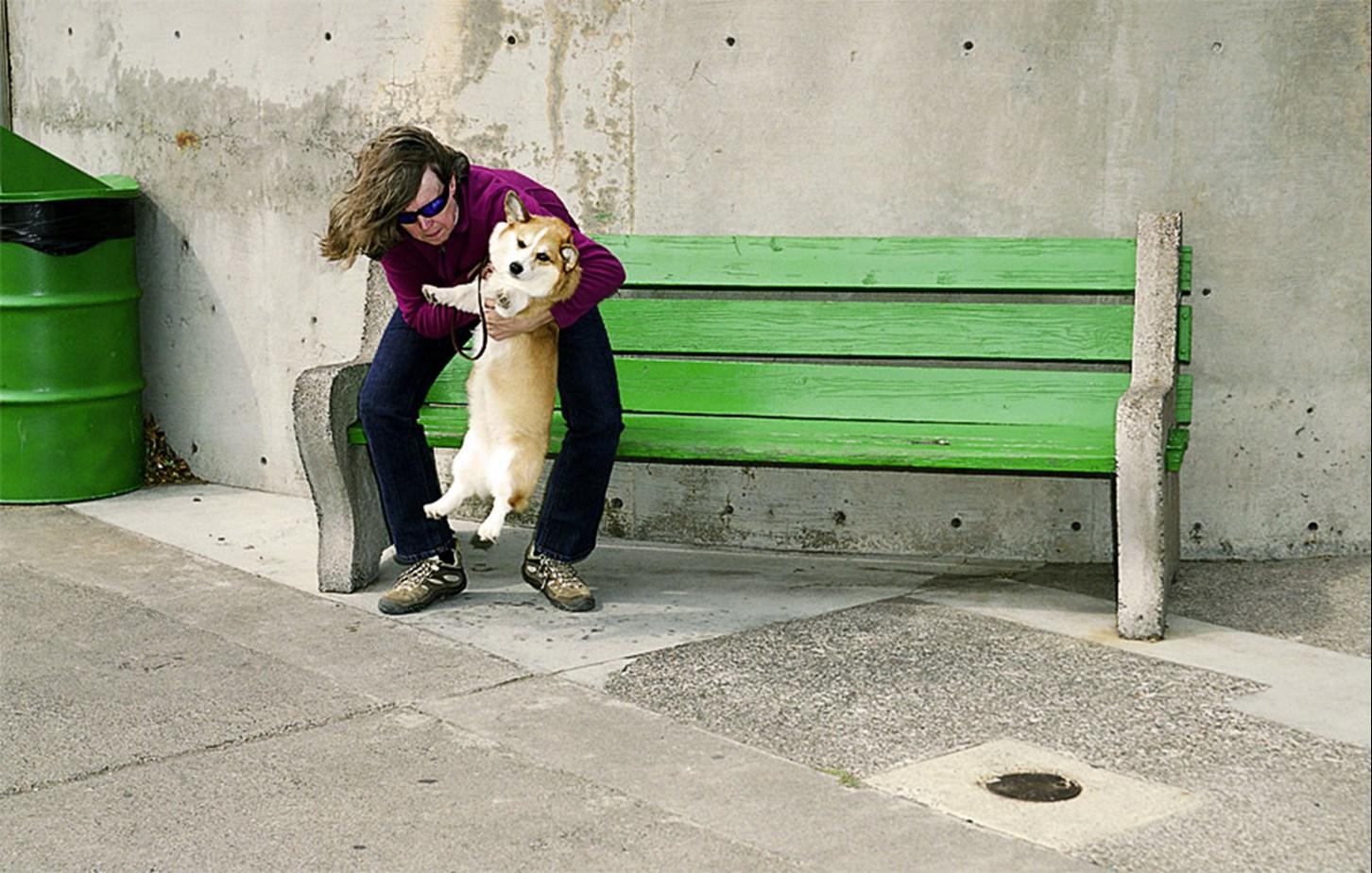 A Woman Hoists A Dog, Duluth, Minnesota, September 2010