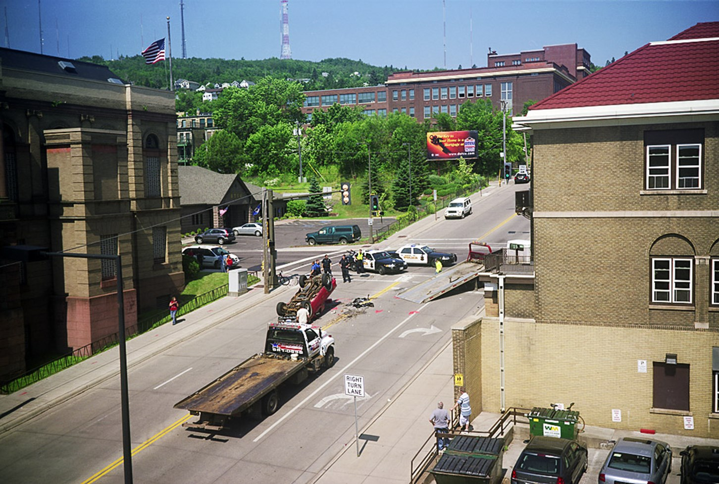 A Truck Rolled Over, Duluth, Minnesota, July 2011