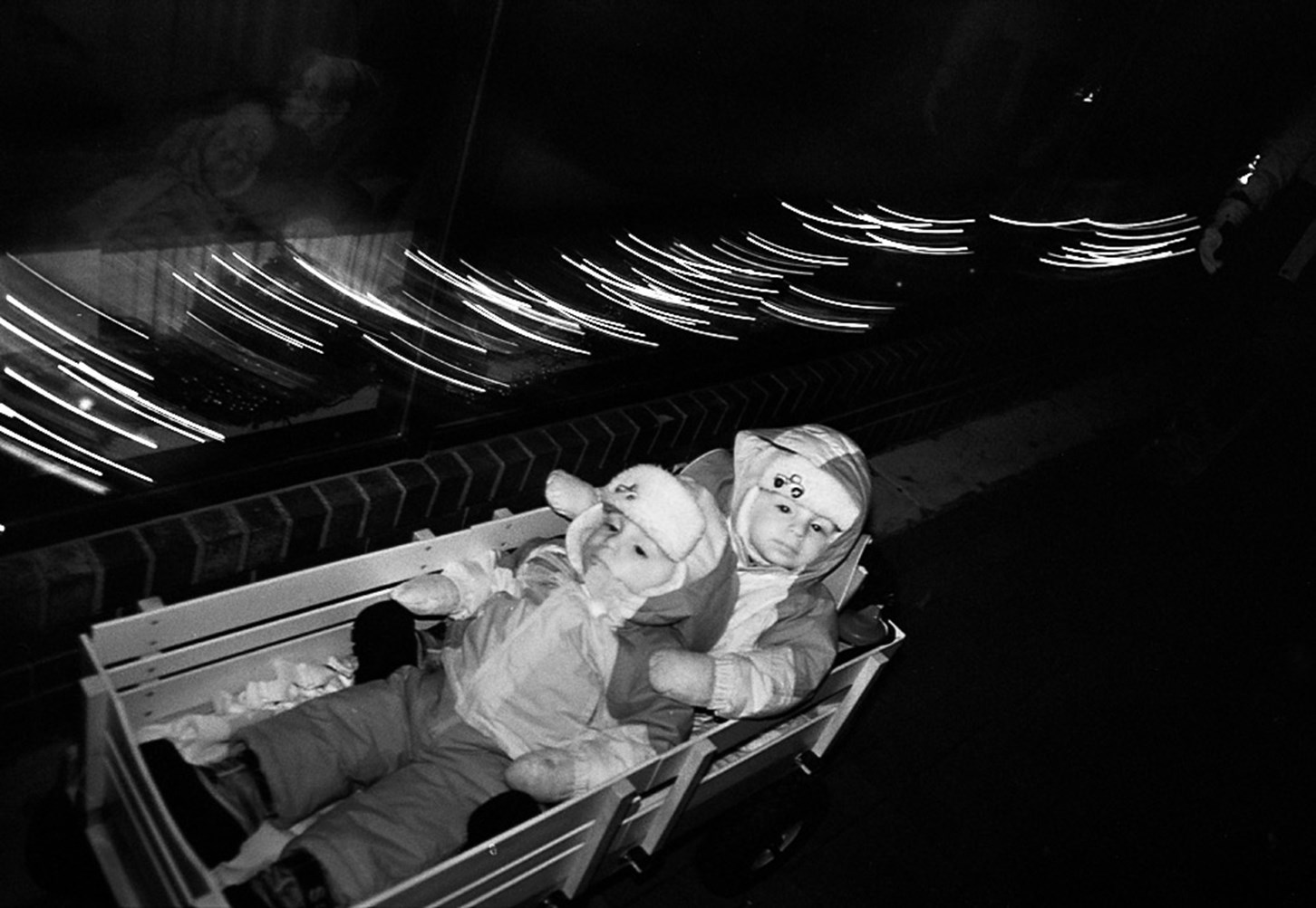 Two Kids in a Cart