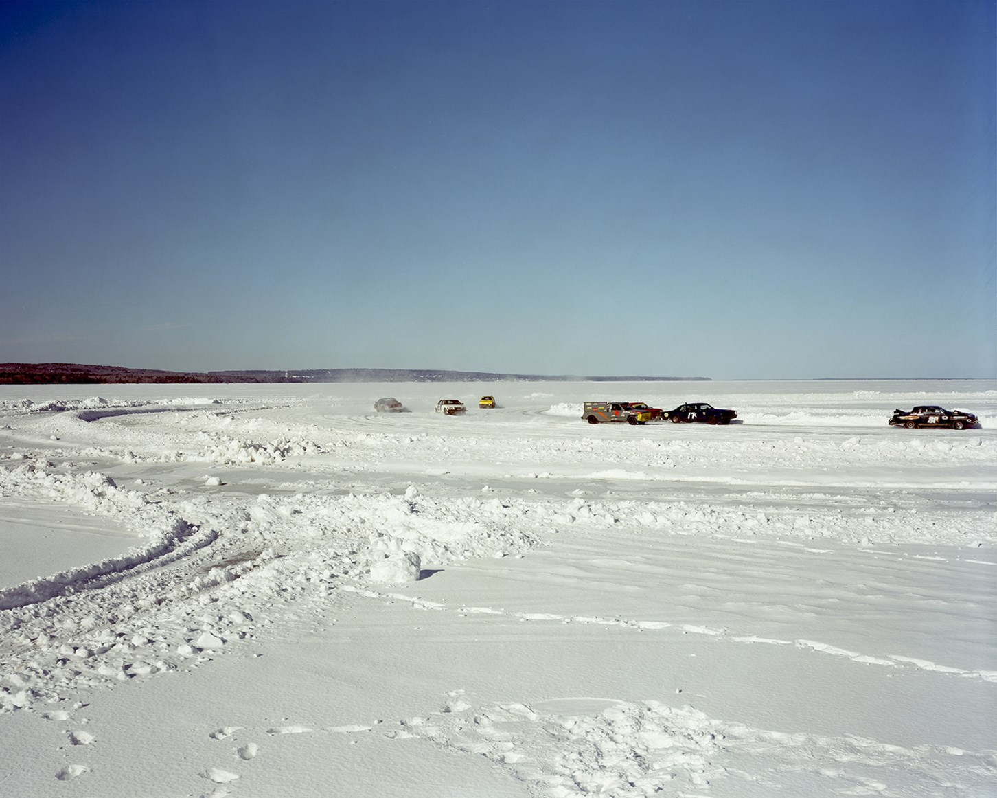 Ice Racing On Chequamegon Bay, Ashland, Wisconsin, March 2013