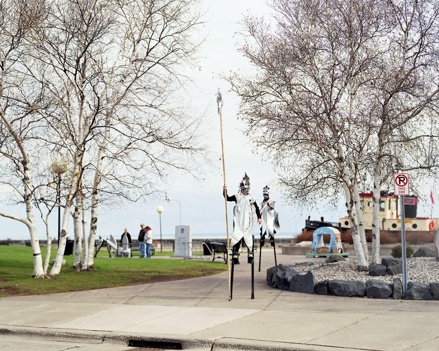 Stiltwalking Smelt, Duluth, Minnesota, April 2012