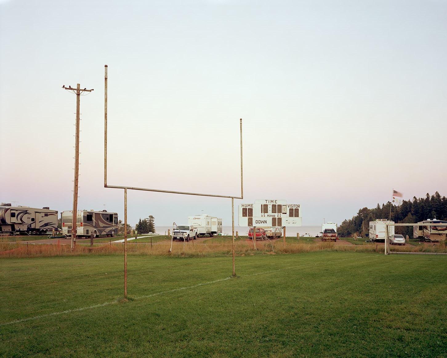 Football Field, Two Harbors, Minnesota, September 2014