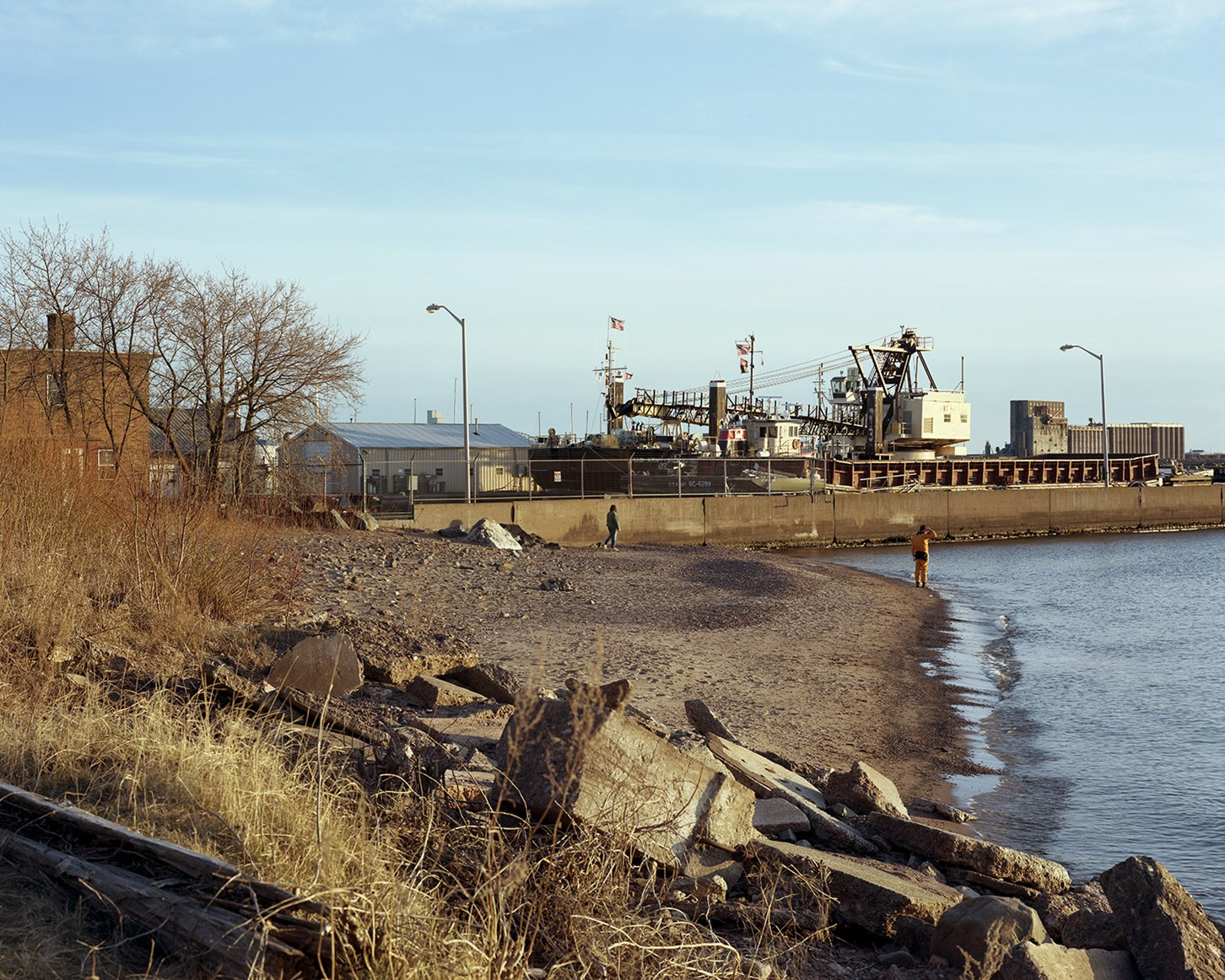Beach, Park Point, Duluth, Minnesota, April 2012