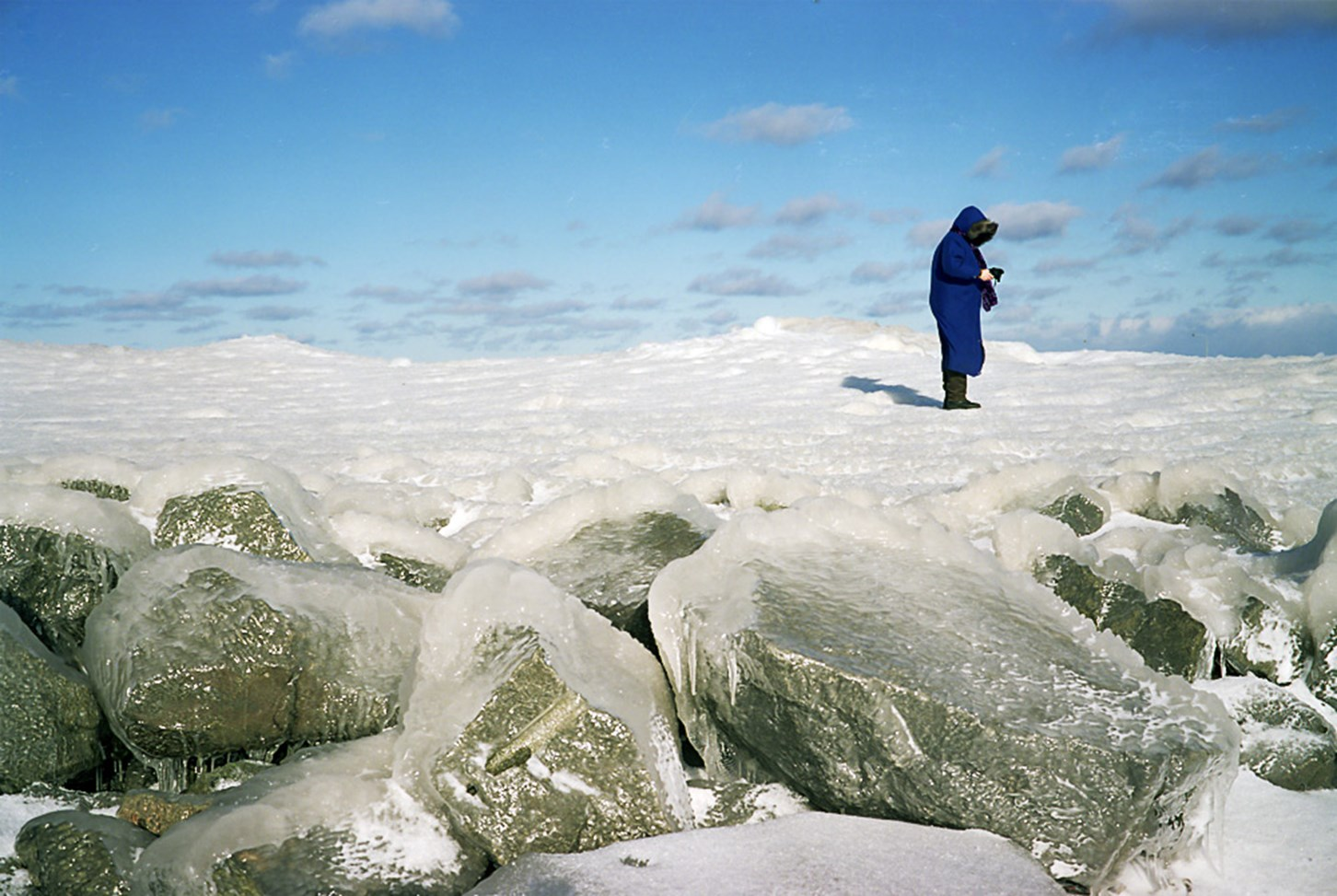A Woman Walks On Ice, Duluth, Minnesota, March 2011