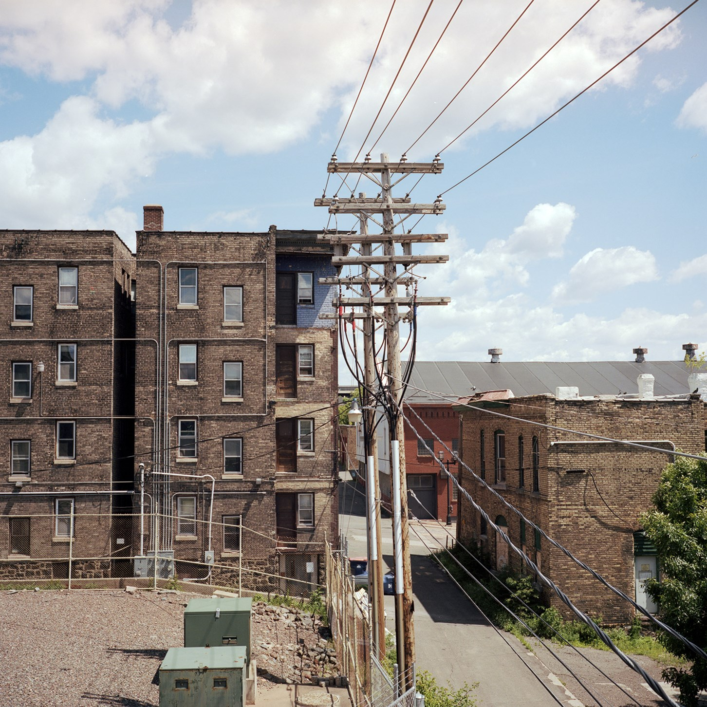 Back alley Duluth, Duluth, Minnesota, July 2017