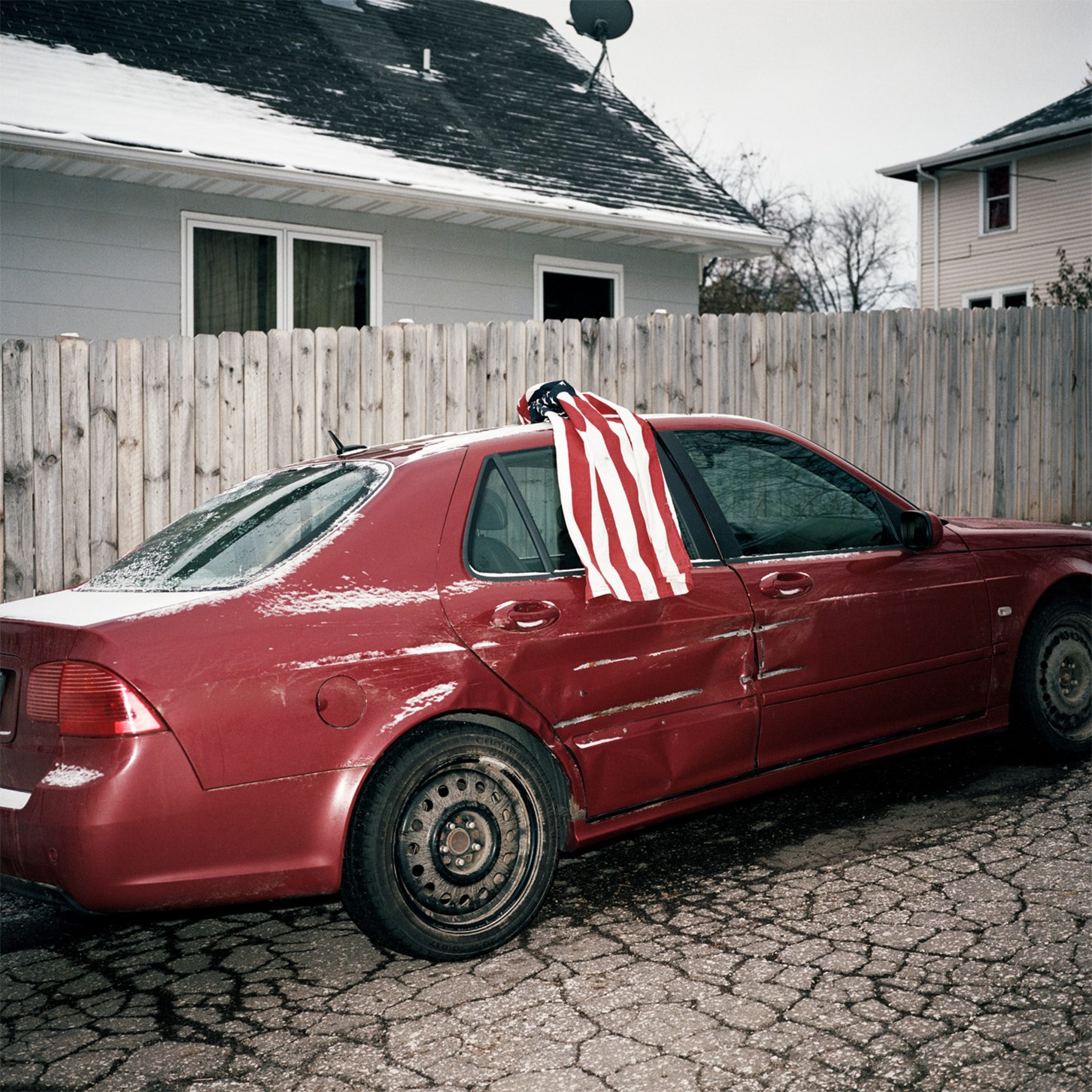Car With a Flag on It, Duluth, Minnesota, October 2017
