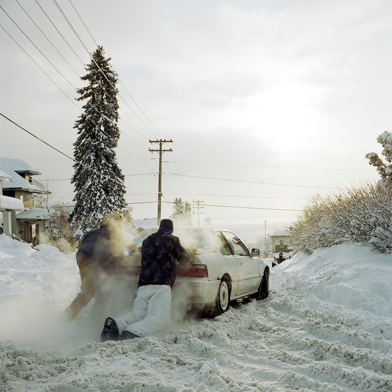 Stuck Car, Duluth, Minnesota, December, 2013