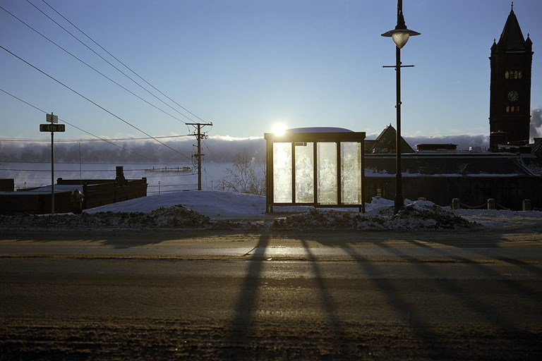 An Empty Bus Stop
