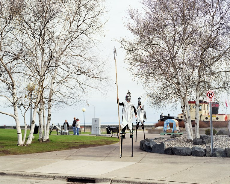 Stiltwalking Smelt, Duluth, Minnesota, April 2012