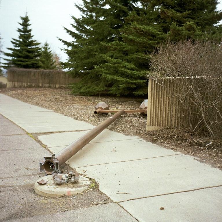 Downed Street Lamp, Duluth, Minnesota, April 2010
