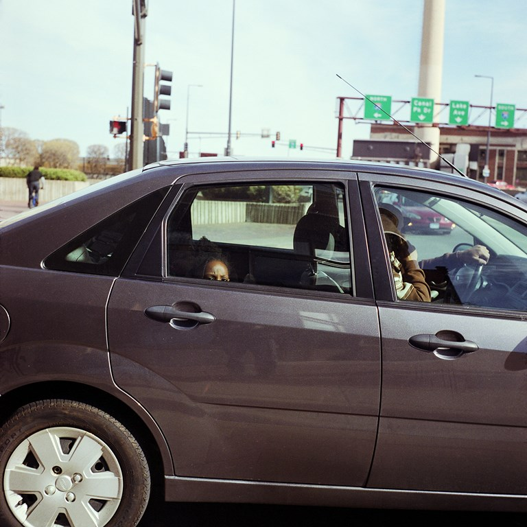 Child In The Backseat Of A Car, Duluth, Minnesota, May, 2010