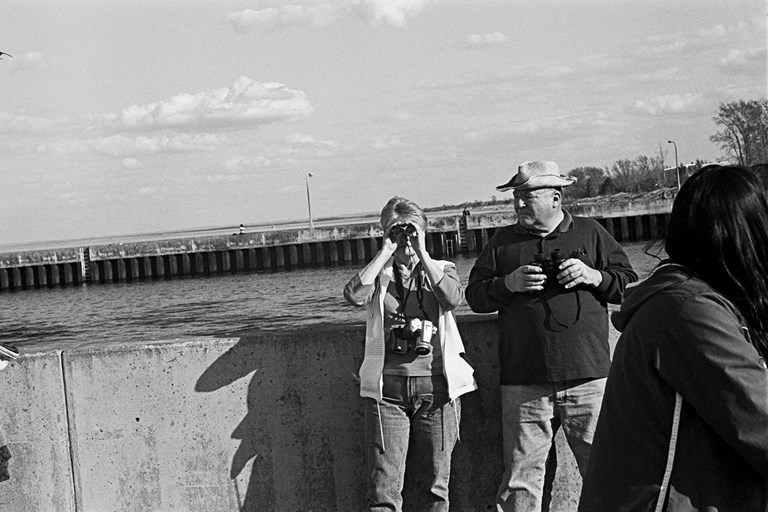 Woman With Binoculars, Duluth, Minnesota, May, 2008