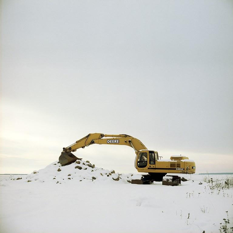 Resting Excavator, Bayfield, Wisconsin, January 2016