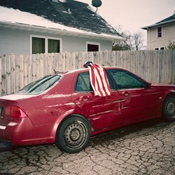 Car With a Flag on It